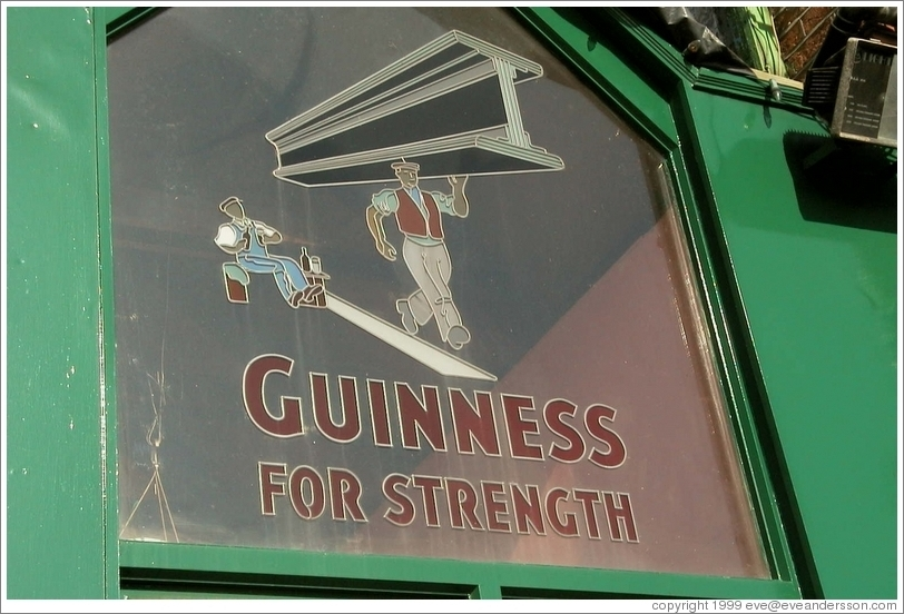 """Guinness For Strength"" -- on a pub either in or around Dublin"