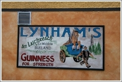 """Guinness For Strength"" -- on a pub in a tiny town south of Dublin."