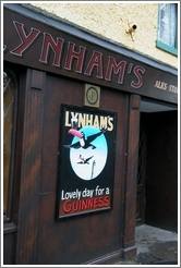 """Lovely Day for a Guinness"" -- on a pub in a tiny town south of Dublin."