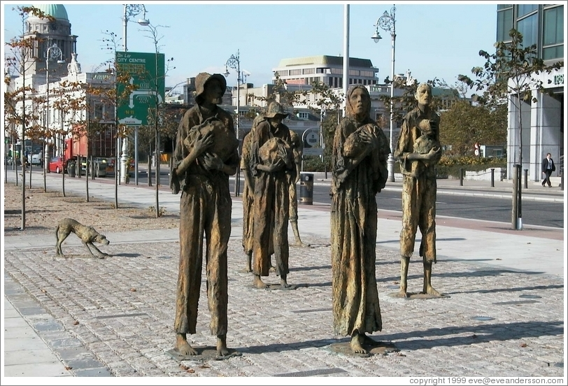 A commemoration of the starving peasants of Dublin (on the bank of the Liffey).