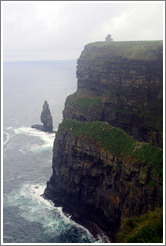 Cliffs of Moher, with O'Brian's Tower on top.