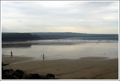 Lahinch Beach, with one surfer.