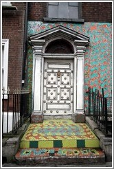 Colorful doorway on Abbey Street.