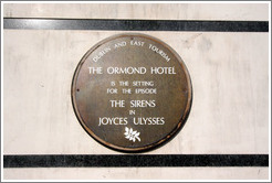 Ormond Hotel.  Setting of the episode of the Sirens in James Joyce's Ulysses.