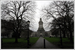 Campanile and Library Square.  Trinity College.