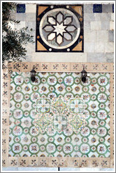 Wall pattern, Al-Jazzar Mosque.  Old town Akko.
