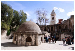 Ethiopian monastery.  Church of the Holy Sepulchre, Christian Quarter, Old City of Jerusalem.