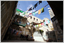 Courtyard with clotheslines.  Christian Quarter, Old City of Jerusalem.
