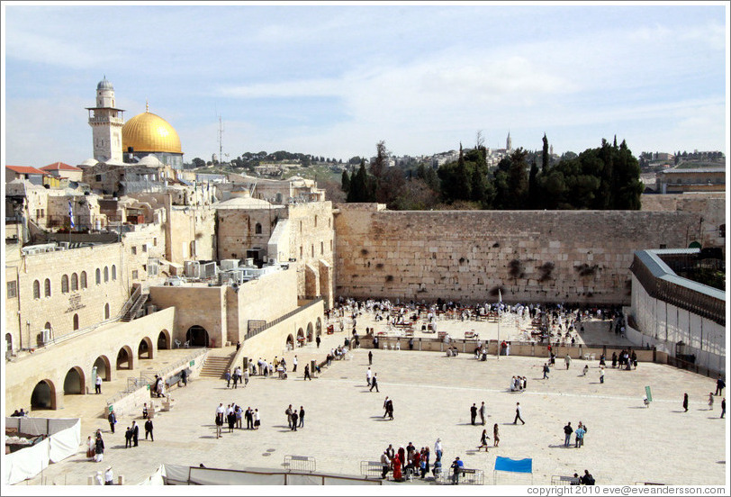 Western (Wailing) Wall, Old City of Jerusalem.