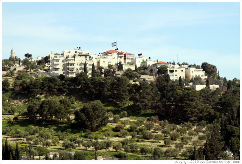 Seven Arches Hotel, Mount of Olives, viewed from the Yeusefiya cemetery, Jerusalem.