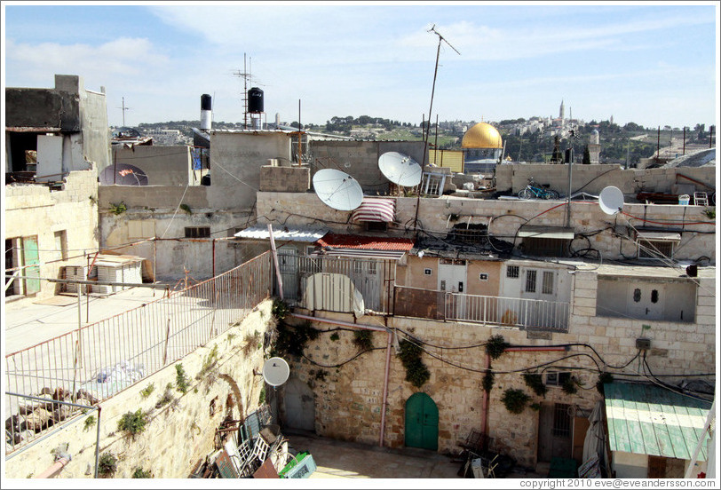 View from the rooftops, Old City of Jerusalem.