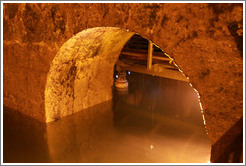 Ancient waterway, Western Wall Tunnel.