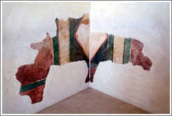 Remnants of a painted wall, commandant's headquarters, desert fortress of Masada.