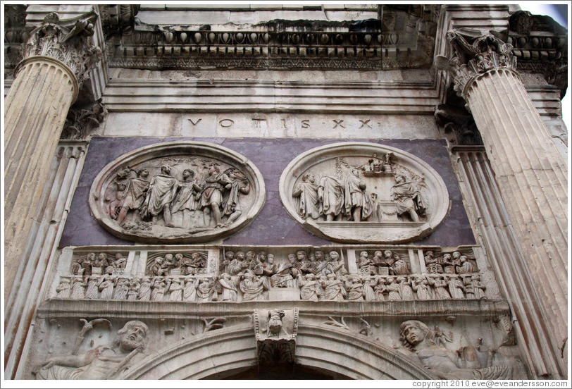 Detail, Arco di Costantino (Arch of Constantine).