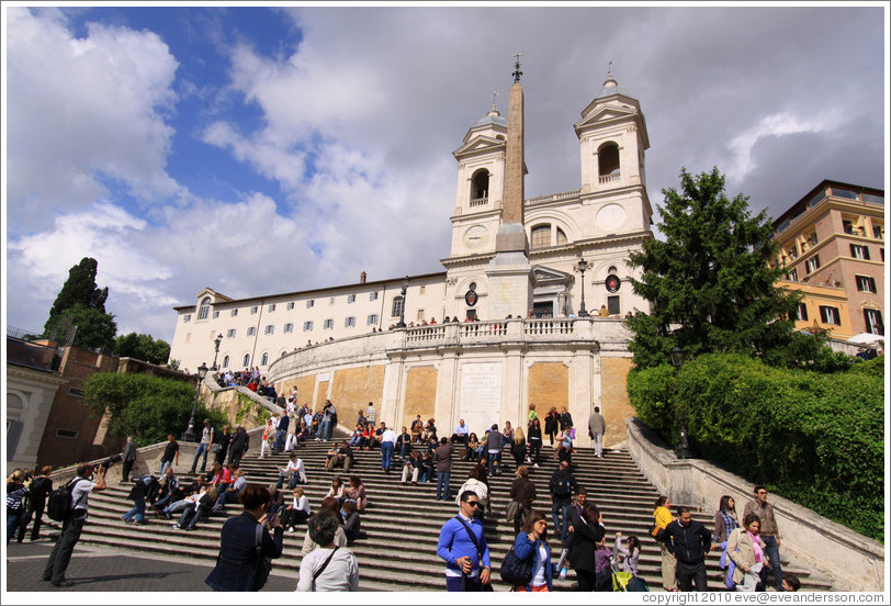Scalinata della Trinit?ei Monti (the Spanish Steps), leading to Trinit?ei Monti.