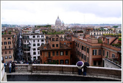 View of rome from Trinit?ei Monti.