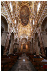 Nave, San Luigi dei Francesi (Church of St. Louis of the French).
