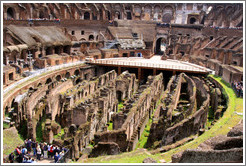 Underground area.  The Colosseum.