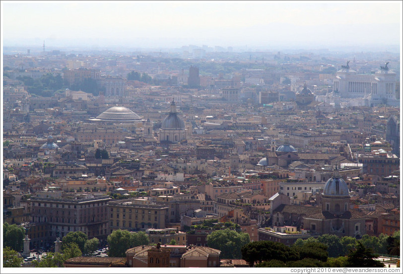 Rome, viewed from St. Peter's Basilica in Vatican City.