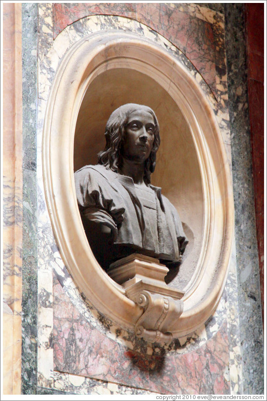 Bust of Raphael.  The Pantheon.