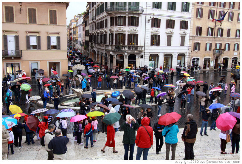 Piazza di Spagna‎ on a rainy day.