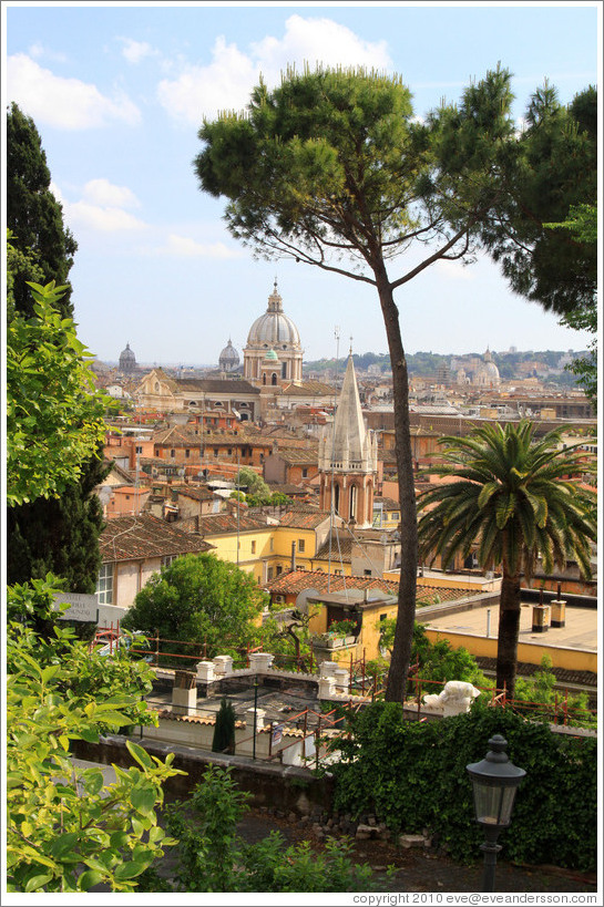 View of Rome from Viale del Belvedere, Pincio (The Pincian Hill).