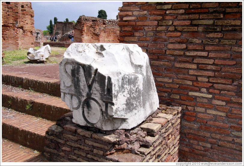 Inscribed stone block, Domus Flavia, Palatine Hill.
