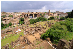 Roman Forum, viewed from Palatine Hill.