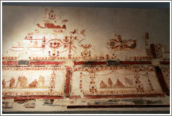Painted decorations of style IV, 54-68 AD.  Museo Palatino (Palatine Museum).