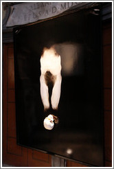 Untitled work (2009) containing a skull by Giovanni Manfredini (Italian artist, born 1963), Santa Maria del Popolo.