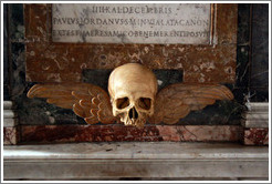 Skull with wings, Santa Maria del Popolo.