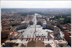 Piazza San Pietro (Saint Peter's Square), viewed from St. Peter's Basilica.