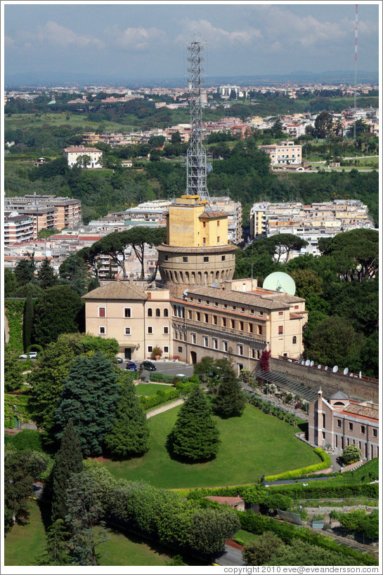 Radio Vaticana (Vatican Radio), viewed from St. Peter's Basilica.