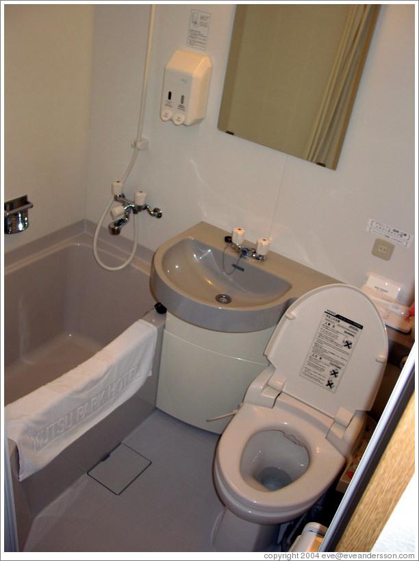 easily washable bathroom