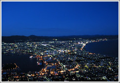 View of Hakodate from Mt. Hakodate.