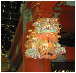 Dragon detail.  Taiyuin-byo Shrine.