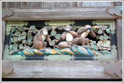 Three monkeys detail.  Tosho-gu Shrine.
