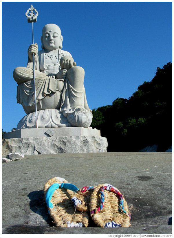 Buddha and sandals.  Mt. Osorezan.