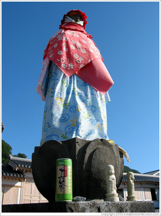 Buddha with beer offering.  Mt. Osorezan.