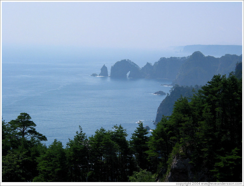 East coast of Honshu at Rikuchu Kaigan National Park.