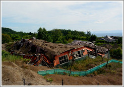 Destroyed school.  Nishiyama Crater Promenade.