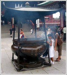 Senso-ji Temple.  Incense burner.