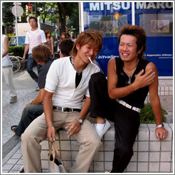 Laughing guys.  Shibuya neighborhood.