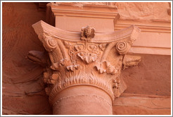Top of a pillar with a pine cone as a symbol of fertility.  Al Khazneh, a.k.a. The Treasury (الخزنة‎).