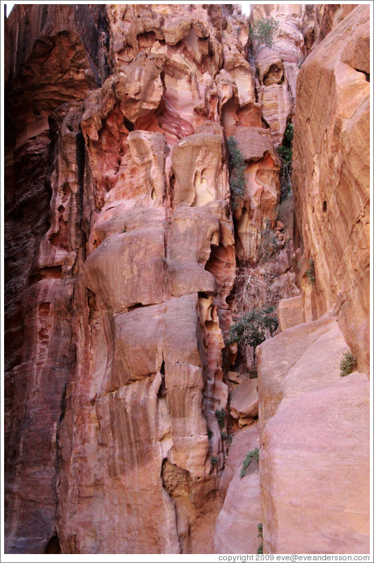 As-Siq, a narrow natural gorge.
