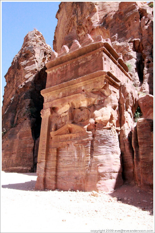 Nabataean tomb on the Street of Fa?es.
