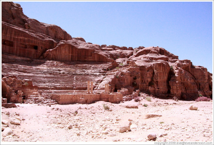 The theatre, built by Nabataeans in the 1st century AD.