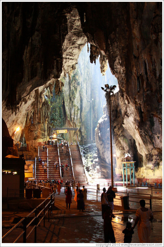First level, Batu Caves.