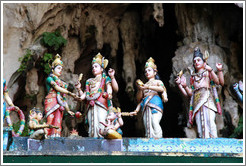 Statues at entrance to Batu Caves.