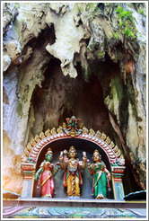 Statues, temple, 2nd level, Batu Caves.